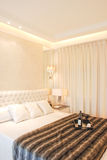 Modernes Schlafzimmer Stockbild
