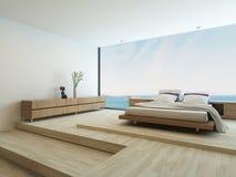 Fußboden Schlafzimmer Xl ~ Modernes schlafzimmer mit boden zu den deckenfenstern stockfoto