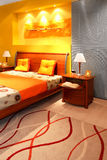 Modernes Schlafzimmerdetail stockbild