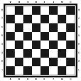 Modernes schwarzes Schachbrett mit Buchstaben und Zahlhintergrundentwurfsvektorillustration vektor abbildung