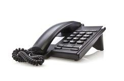 Modernes schwarzes Telefon Lizenzfreie Stockfotografie