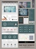Modernes Seitenwebsite-Schablonendesign Lizenzfreies Stockbild