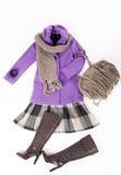 Modernes Set Kleidung für junge Frau Lizenzfreies Stockfoto