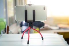 Modernes Smartphonesfoto Smartphone mit mit Kamera Stockfotos
