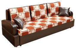 Modernes Sofabett getrennt Lizenzfreies Stockbild