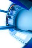 Modernes Solariumbett Stockfoto
