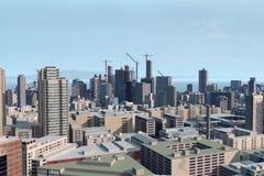 Modernes Stadtbild Stockbild