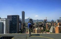 Modernes Stadtbild von Santiago de Chile Stockbilder