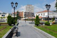 modernes Stadtzentrum von Novi Pazar, Serbien stockbild