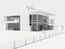 Modernes Strandhaus Lizenzfreies Stockbild