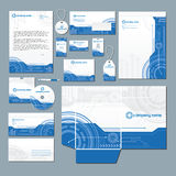 Modernes Technologiebriefpapierset Lizenzfreie Stockfotos