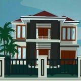 Modernes tropisches Haus stockbilder