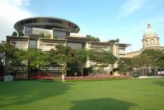 Modernes und altes Singapur lizenzfreie stockfotos