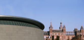 Modernes und historisches Amsterdam Lizenzfreies Stockfoto