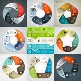 Modernes Vektor infographics für Geschäftsprojekt Lizenzfreies Stockbild