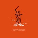 Modernes Vektor Victory Day-Konzept des Entwurfes Stockfoto