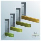 Modernes Vierkant-Diagramm-Treppen-Schritt-Geschäft Infographic Stockbild