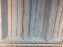 Modernes weißes überzogenes Dach Stockfotografie
