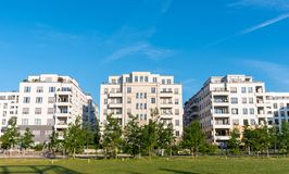 Modernes Wohngebiet in Berlin Lizenzfreies Stockfoto