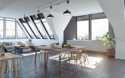 Modernes Wohnungsdesign Stockbild