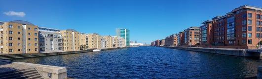 Modernes Wohnviertel von Kopenhagen stockbild