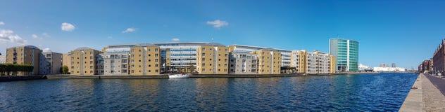 Modernes Wohnviertel von Kopenhagen stockfotografie