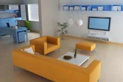 Modernes Wohnzimmer Lizenzfreie Stockfotografie