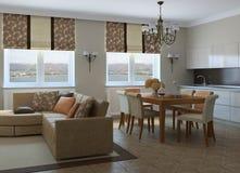 Modernes Wohnzimmer. Lizenzfreies Stockfoto