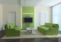 Modernes Wohnzimmer. Stockfotografie
