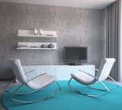 Modernes Wohnzimmer. Stockfoto