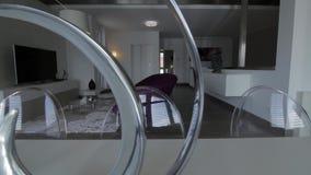 Modernes Wohnzimmer stock footage