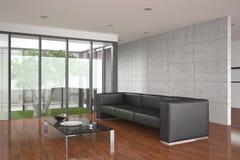 Modernes Wohnzimmer mit Parkettfußboden Lizenzfreie Stockfotos