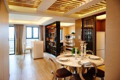 Modernes Wohnzimmer und Speiseraum Lizenzfreies Stockfoto