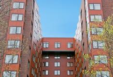 Modernes Ziegelsteinstadtgebäude Lizenzfreies Stockfoto