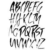 Moderni disegnati a mano asciugano l'iscrizione della spazzola Alfabeto di stile di lerciume Fonte scritta a mano Illustrazione d Immagine Stock Libera da Diritti