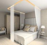 moderni interni 3d rendono Fotografia Stock