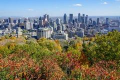 Modernidade e natureza na harmonia em Montreal fotografia de stock