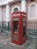 Modernised red phone box Stock Images