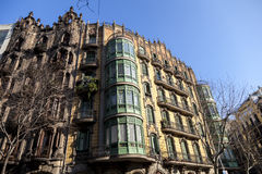 Modernism building in Eixample district in Barcelona Stock Images