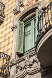 Modernism building in Eixample district in Barcelona Stock Photo