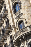 Modernism building in Eixample district in Barcelona Royalty Free Stock Photography