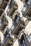 Modernism building in Eixample district in Barcelona Stock Photos