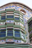 Modernism building in Eixample district in Barcelona Stock Image