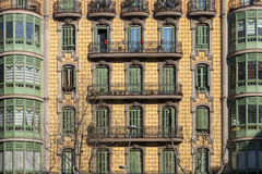 Modernism building in Eixample district in Barcelona Royalty Free Stock Photos