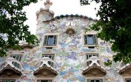 modernism för catalan för barcelona battlocasa Arkivfoto