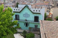 Modernism i Girona, Catalonia, Spanien royaltyfria bilder