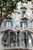 modernisme d'exemple de maison de battlo de Barcelone Photo libre de droits
