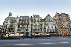 Modernismo in Passeig de Gracia Royalty Free Stock Photos