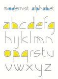 modernist алфавита Стоковые Изображения