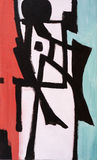 Modernist abstract image. An enigmatic modernist abstact painting Stock Images